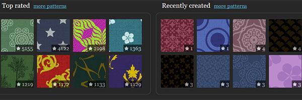 Tiled backgrounds designer