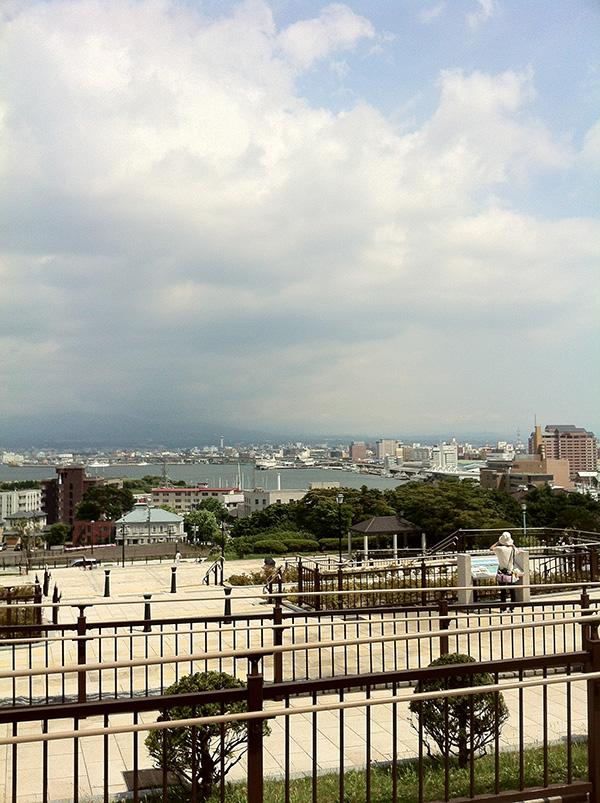 函館元町公園から函館港の眺め