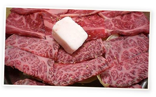 米沢牛鉄鍋焼肉みよし牛上カルビ